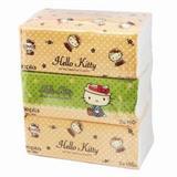妮飘 150抽 Hello Kitty袋装面巾纸 209*162mm(3包/提)