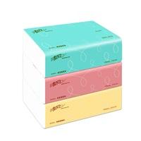 清风 100抽 花韵袋装面巾纸(5包/提)