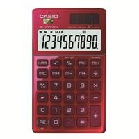 卡西欧SL-1000TW-RD卡片式时尚办公计算器 红色