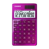 卡西欧SL-1000TW-PK卡片式时尚办公计算器 粉色