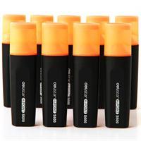 得力 标记醒目荧光笔<橙色>10支/盒